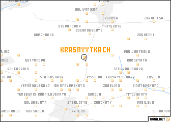 map of Krasnyy Tkach