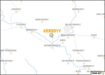 map of Krasnyy