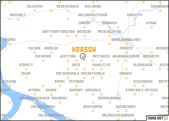 map of Krasów