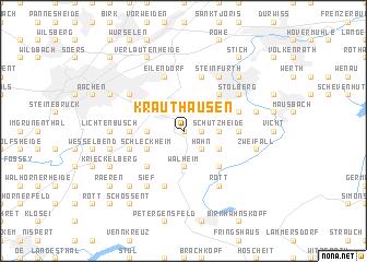 map of Krauthausen