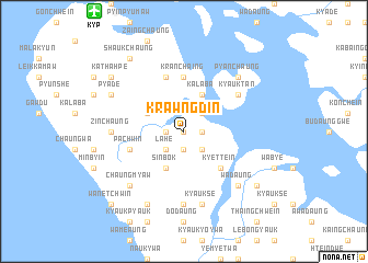 map of Krawngdin