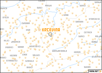 map of Krčevina