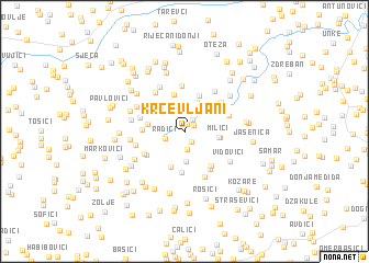 map of Krčevljani