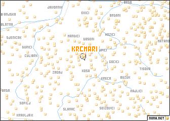 map of Krčmari