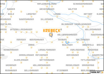 map of Krebeck