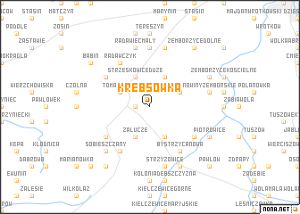 map of Krębsówka