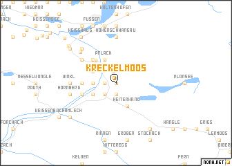 map of Kreckelmoos