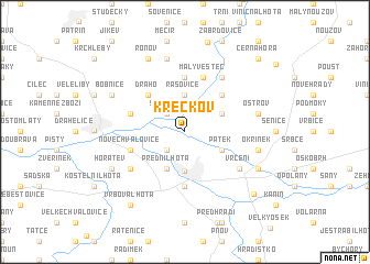 map of Křečkov