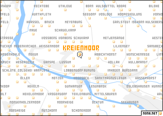map of Kreienmoor