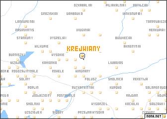 map of Krejwiany