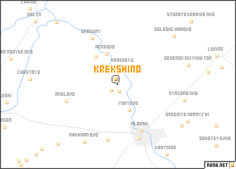 map of Krekshino