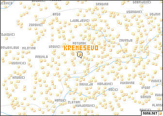 map of Kremeševo