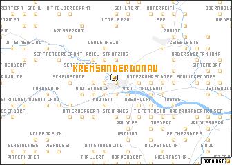 map of Krems an der Donau