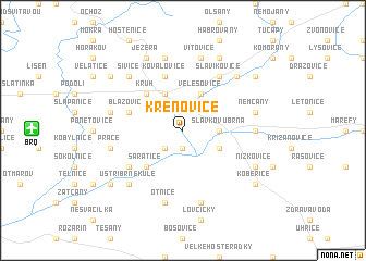 map of Křenovice