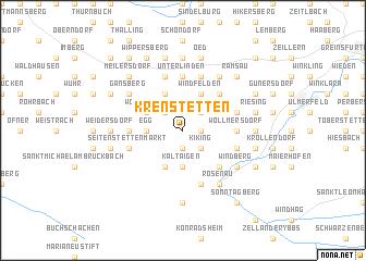 map of Krenstetten