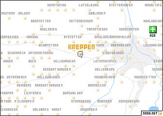 map of Kreppen