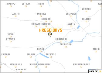 map of Kresčionys
