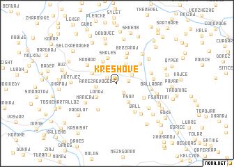 map of Kreshovë