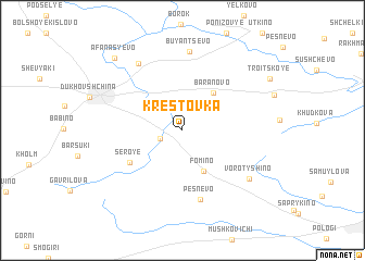 map of Krestovka