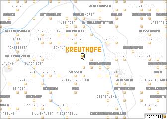 map of Kreuthöfe