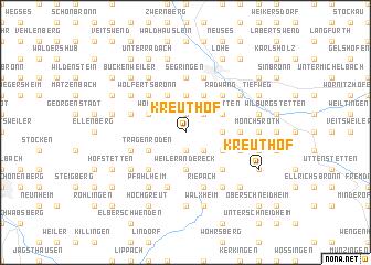 map of Kreuthof