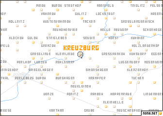 map of Kreuzburg
