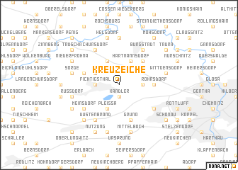 map of Kreuzeiche