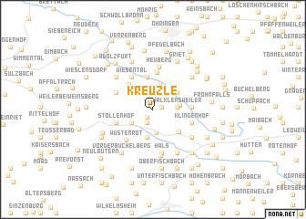 map of Kreuzle