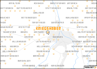 map of Kriegshaber