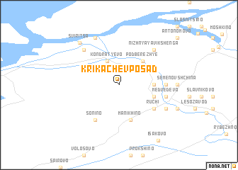 map of Krikachëv Posad