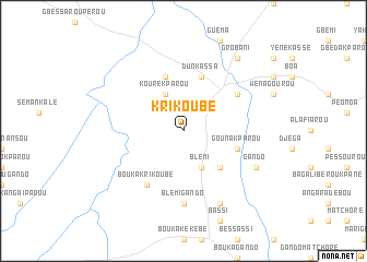 map of Krikoubé