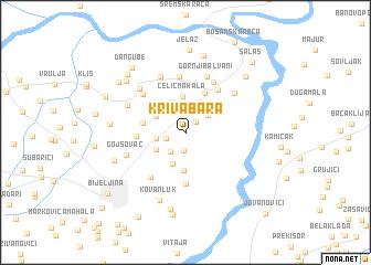 map of Kriva Bara
