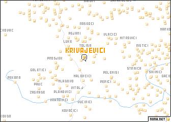 map of Krivajevići