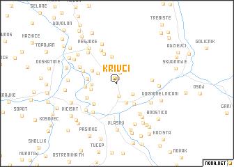 map of Krivci