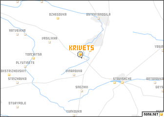 map of Krivets