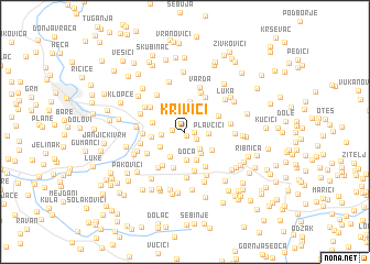 map of Krivići
