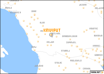 map of Krivi Put