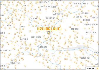map of Krivoglavci