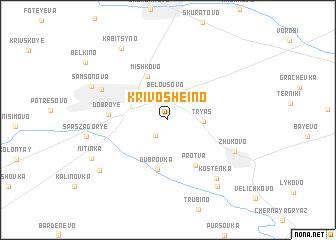 map of Krivosheino