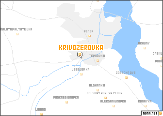 map of Krivozërovka