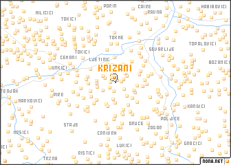 map of Križani