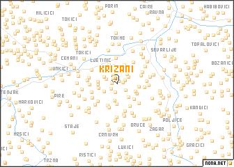 map of Križani