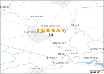 map of Krizhanovskiy