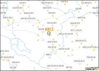 map of Križ