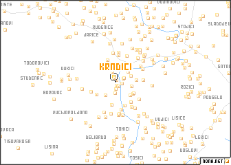 map of Krndići