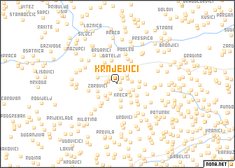 map of Krnjevići