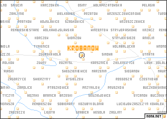 map of Krobanów