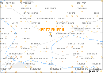 map of Kroczymiech