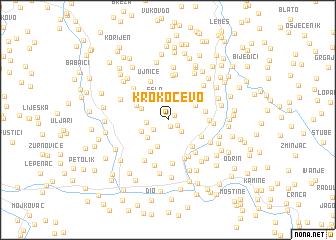 map of Krokočevo
