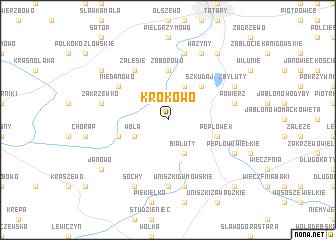 map of Krokowo
